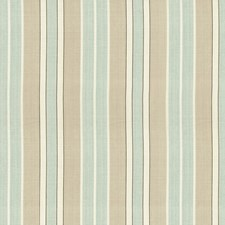Aqua/Flax/Ivory Drapery and Upholstery Fabric by Schumacher