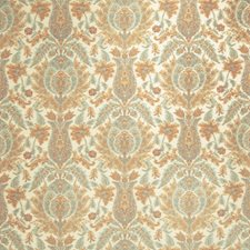 Pumpkin Floral Drapery and Upholstery Fabric by Stroheim