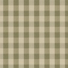 Sage Check Drapery and Upholstery Fabric by Stroheim