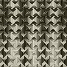 Onyx Geometric Drapery and Upholstery Fabric by Stroheim