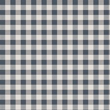 Navy Check Drapery and Upholstery Fabric by Fabricut