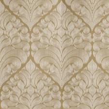 Gold Jacquard Pattern Drapery and Upholstery Fabric by Fabricut