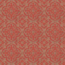 Persimmon Medallion Drapery and Upholstery Fabric by Fabricut