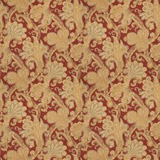 Persimmon Jacobean Drapery and Upholstery Fabric by Fabricut