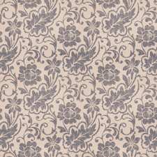 Indigo Floral Drapery and Upholstery Fabric by Trend