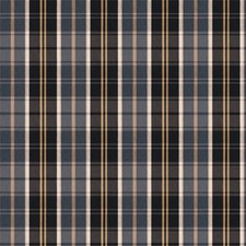 Indigo Check Drapery and Upholstery Fabric by Trend