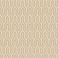 Vanilla Flamestitch Drapery and Upholstery Fabric by Trend