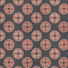Red On Grey Global Drapery and Upholstery Fabric by Vervain