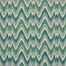 Emerald/Peacock Drapery and Upholstery Fabric by Schumacher