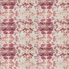 Rosso Pink Print Pattern Drapery and Upholstery Fabric by S. Harris