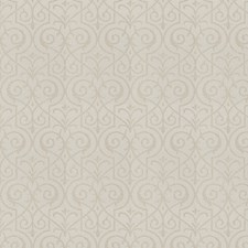White Silver Lattice Drapery and Upholstery Fabric by Fabricut