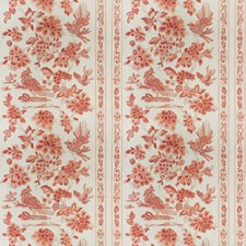 Coral Floral Drapery and Upholstery Fabric by Vervain