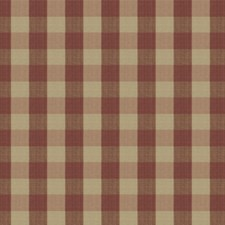 Cranberry Check Drapery and Upholstery Fabric by Stroheim