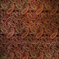 Ebony Paisley Drapery and Upholstery Fabric by Trend