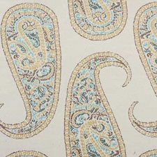 Marine Paisley Drapery and Upholstery Fabric by B. Berger