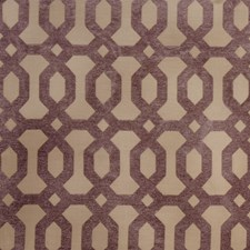 Lavender Geometric Drapery and Upholstery Fabric by Trend