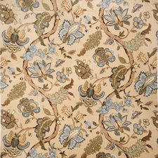 Lagoon Jacobean Drapery and Upholstery Fabric by Trend