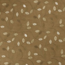 Khaki Embroidery Drapery and Upholstery Fabric by Trend