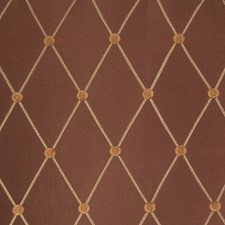 Copper Embroidery Drapery and Upholstery Fabric by Trend