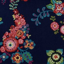 Navy Drapery and Upholstery Fabric by B. Berger