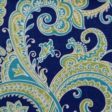 Blue/Turquoise Paisley Drapery and Upholstery Fabric by B. Berger