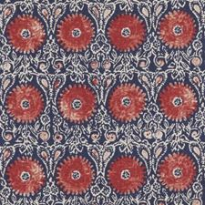Red/Blue Floral Medium Drapery and Upholstery Fabric by Duralee