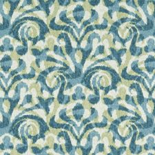 Aqua/Green Ethnic Drapery and Upholstery Fabric by Duralee