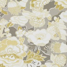 Yellow Floral Large Drapery and Upholstery Fabric by Duralee