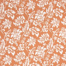 Tangerine Floral Drapery and Upholstery Fabric by Trend