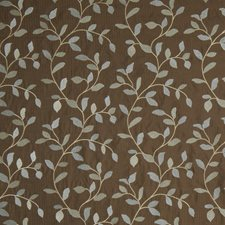 Cocoa Embroidery Drapery and Upholstery Fabric by Trend