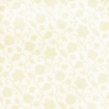 Cream Floral Drapery and Upholstery Fabric by Trend