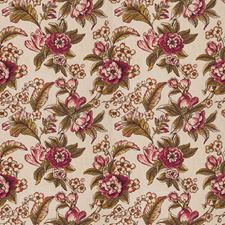 Pumpkin Floral Drapery and Upholstery Fabric by Trend