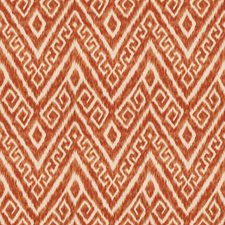 Pumpkin Flamestitch Drapery and Upholstery Fabric by Trend