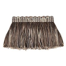 Fringe Cocoa/Silver Trim by Duralee