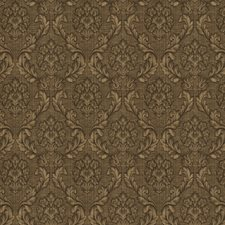 Mocha Damask Drapery and Upholstery Fabric by Trend