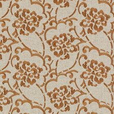 Persimmon Embroidery Drapery and Upholstery Fabric by Duralee