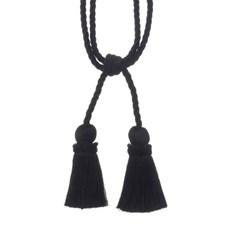Tie Back Black Trim by Duralee