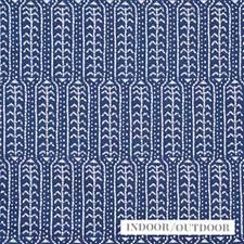 Indigo Drapery and Upholstery Fabric by Schumacher