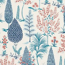 Delft/Rose Drapery and Upholstery Fabric by Schumacher