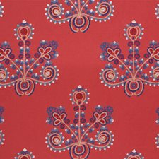 Vermilion Drapery and Upholstery Fabric by Schumacher