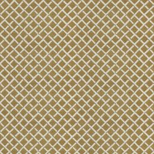Camel Lattice Drapery and Upholstery Fabric by Stroheim