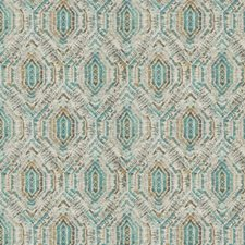 Teal Geometric Drapery and Upholstery Fabric by Fabricut