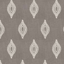 Taupe Embroidery Drapery and Upholstery Fabric by Stroheim