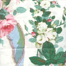 White Botanical Drapery and Upholstery Fabric by Lee Jofa