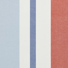 Sky/Coral Drapery and Upholstery Fabric by Schumacher