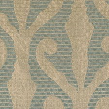 Aqua/gold Drapery and Upholstery Fabric by Highland Court