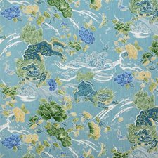 Turquoise Animal Drapery and Upholstery Fabric by Brunschwig & Fils