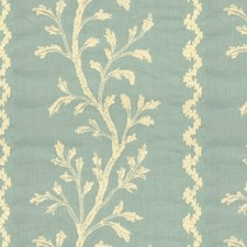 Stone Blue Botanical Drapery and Upholstery Fabric by Brunschwig & Fils