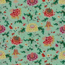 Berry/Orchid Botanical Drapery and Upholstery Fabric by Brunschwig & Fils