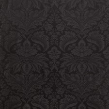 Black Damask Drapery and Upholstery Fabric by Brunschwig & Fils